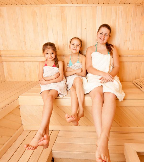 dziecko i sauna